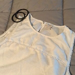 J.Crew sleeveless top with dot detail